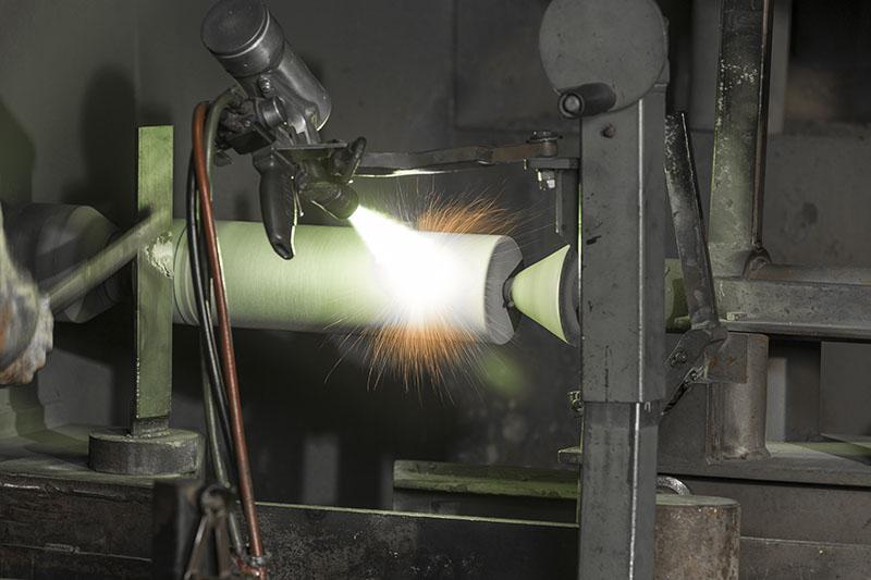 flame spraying process